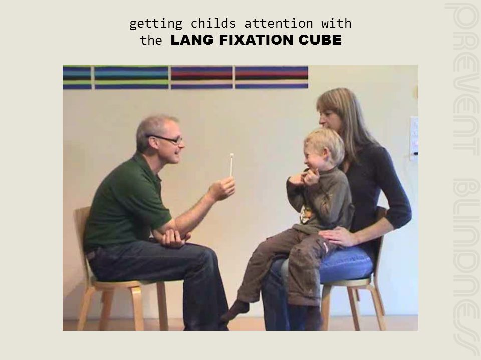 getting childs attention with the LANG FIXATION CUBE
