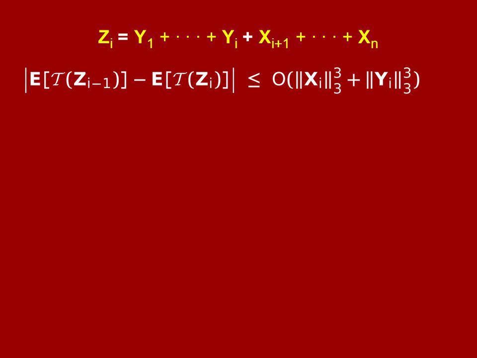 Z i = Y 1 + · · · + Y i + X i+1 + · · · + X n