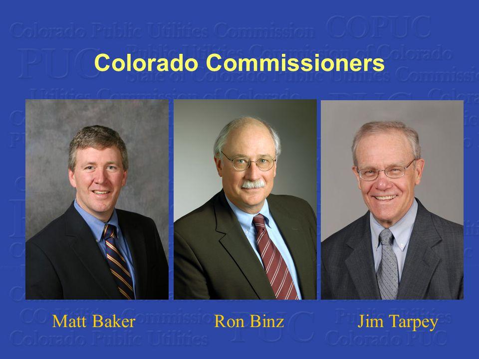 Colorado Commissioners Matt BakerRon BinzJim Tarpey