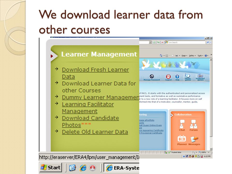 We download learner data from other courses