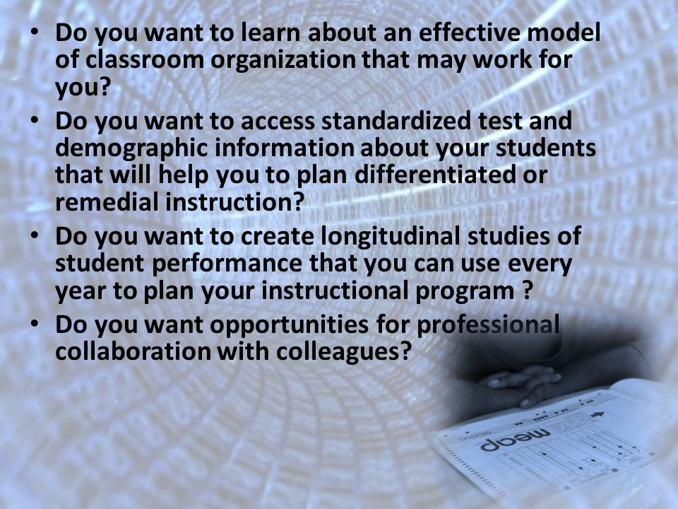 Do you want to learn about an effective model of classroom organization that may work for you.