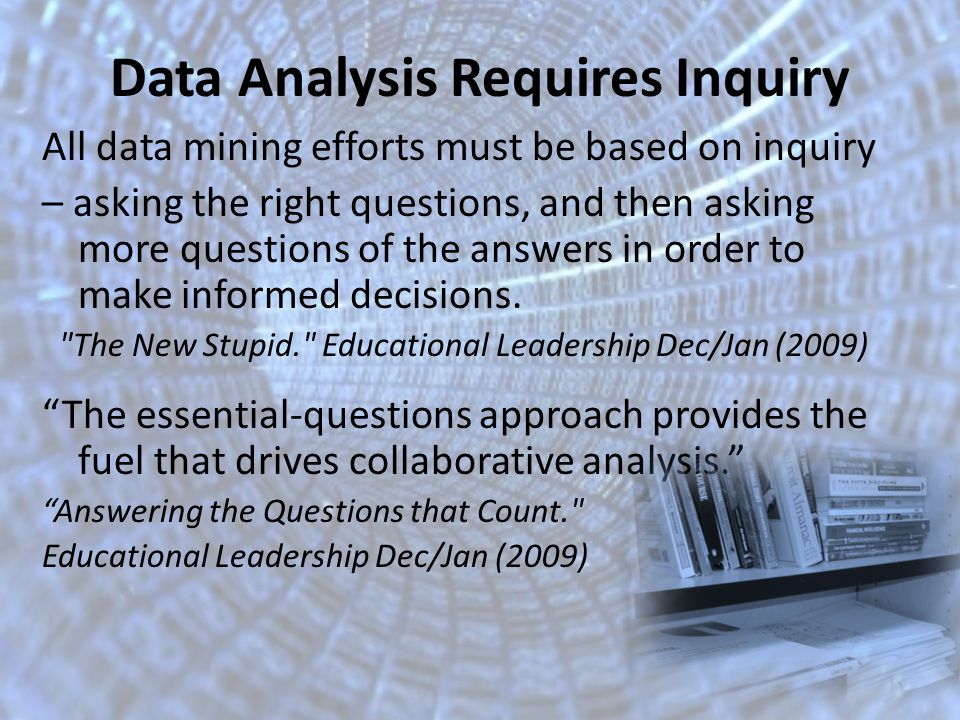 Goal: Provide teachers with the tools and support to use Data to inform instruction