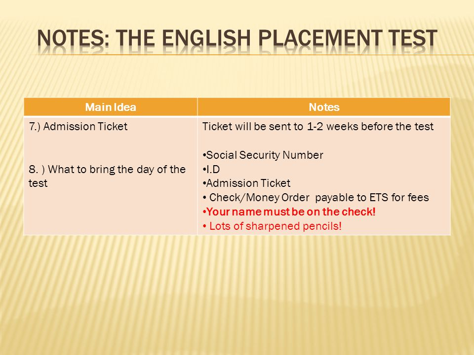 1.Name one way you may be exempt from taking the EPT.