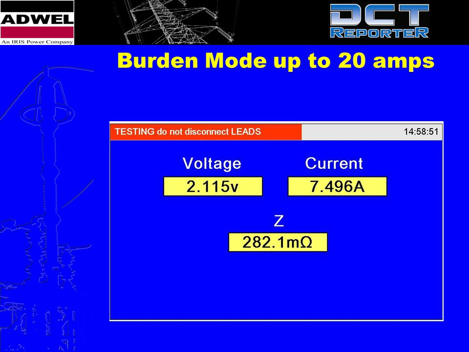 Burden Mode up to 20 amps