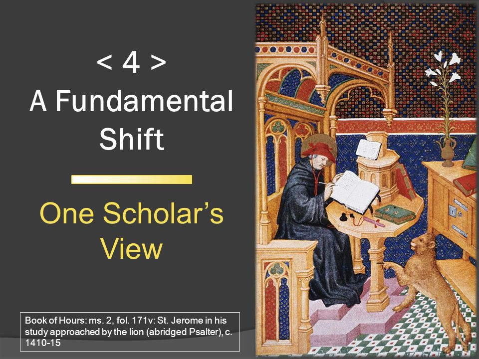 A Fundamental Shift One Scholars View 17 Book of Hours: ms.