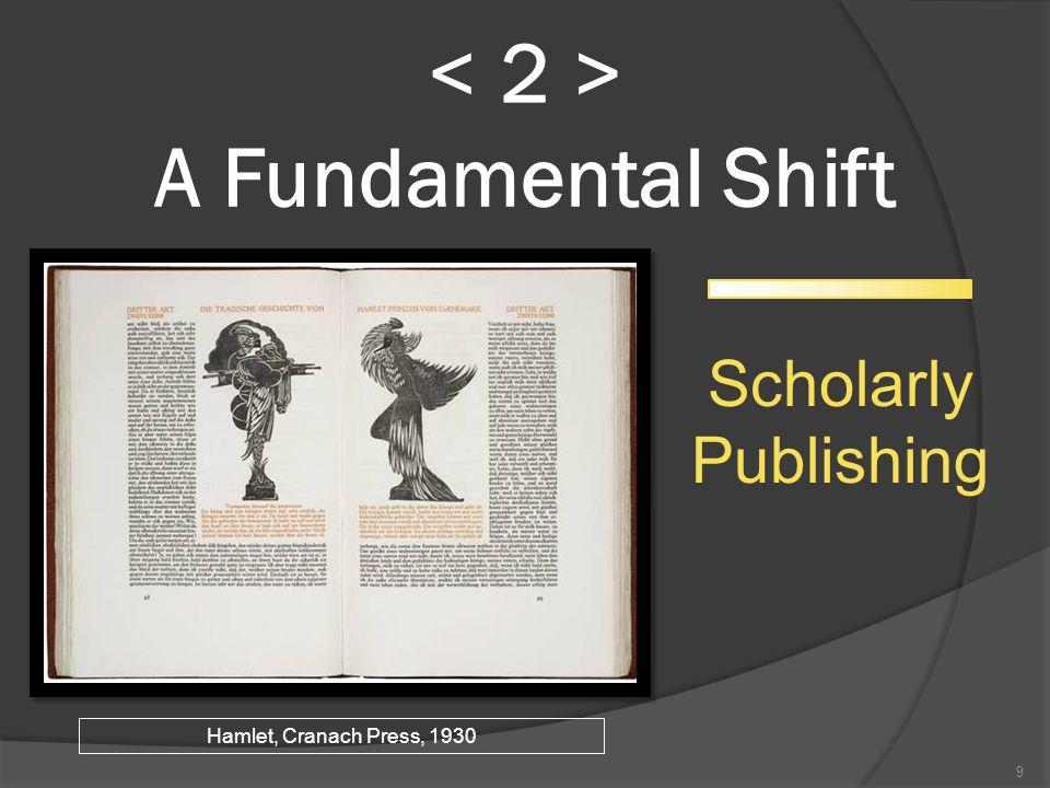 A Fundamental Shift 9 Scholarly Publishing Hamlet, Cranach Press, 1930