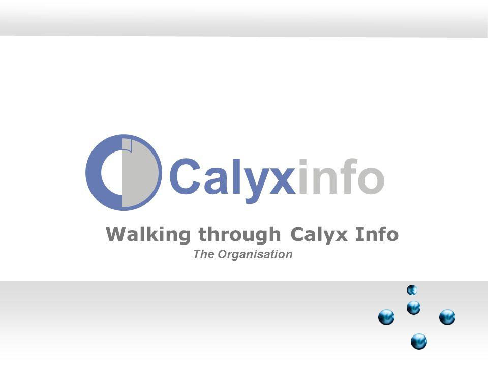 Calyxinfo Walking through Calyx Info The Organisation
