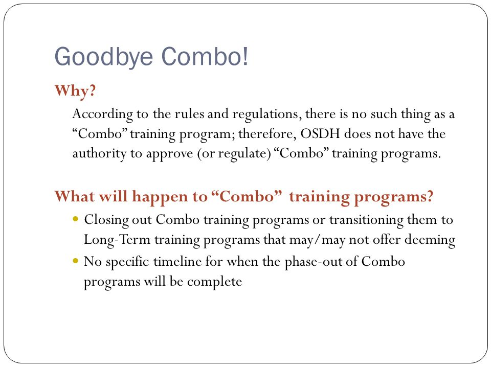 Goodbye Combo. Why.