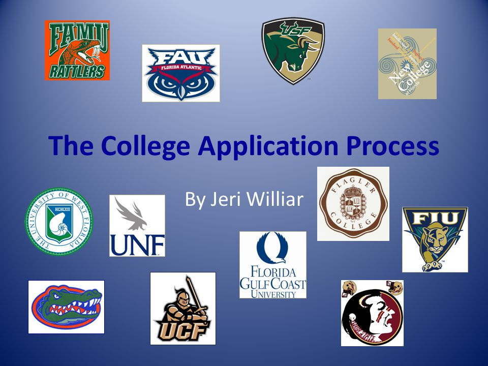 The College Application Process By Jeri Williar