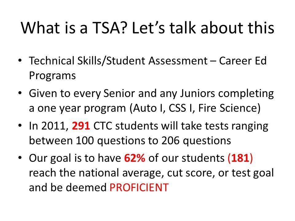 What is a TSA.