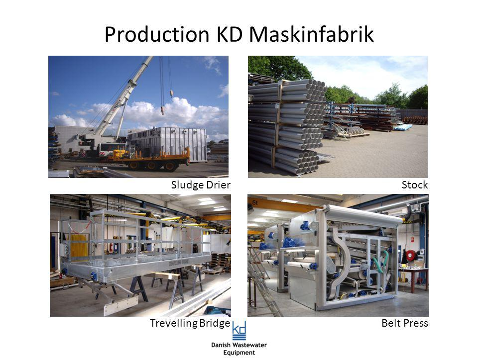 Production KD Maskinfabrik Sludge DrierStock Trevelling BridgeBelt Press
