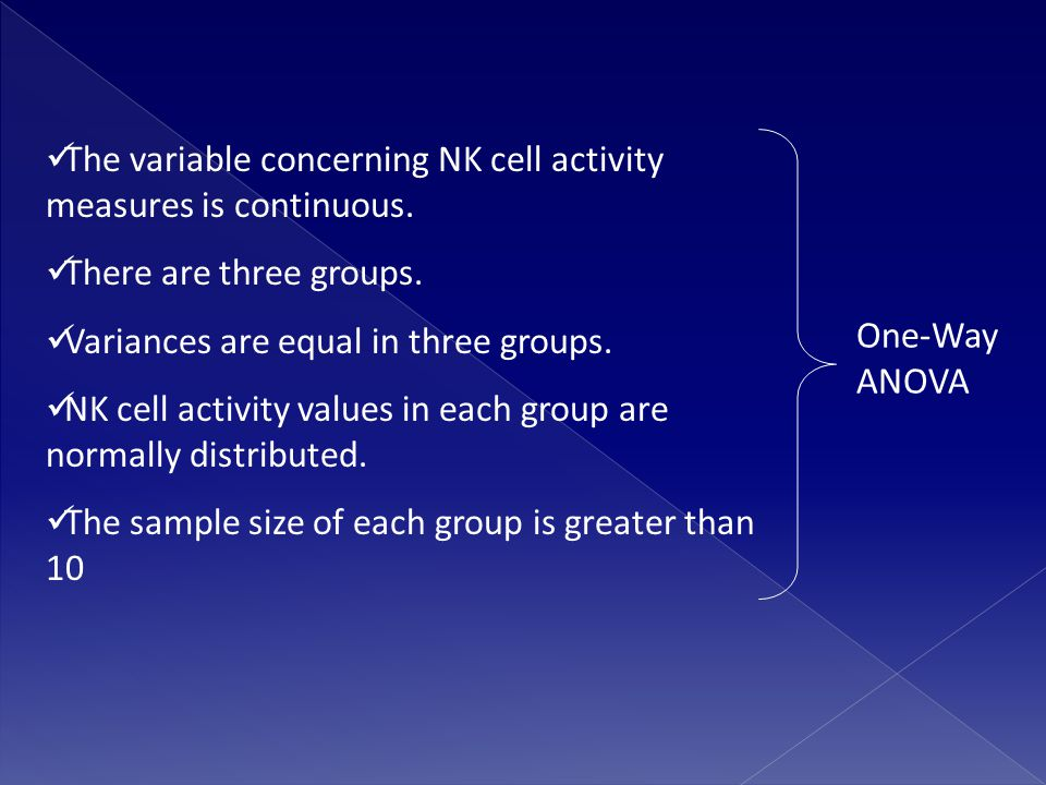 The variable concerning NK cell activity measures is continuous.