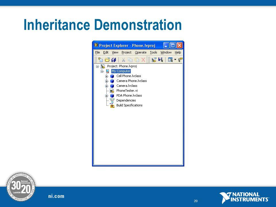 20 Inheritance Demonstration