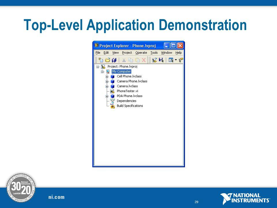 29 Top-Level Application Demonstration
