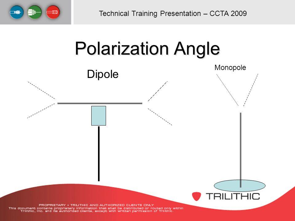 Technical Training Presentation – CCTA 2009 Polarization Angle Dipole Monopole