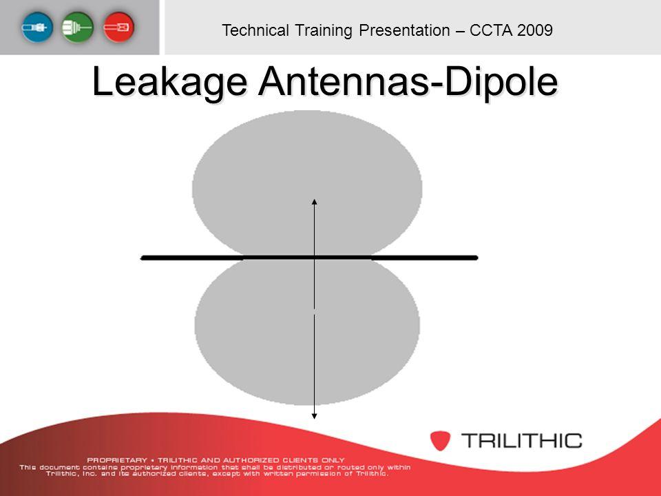 Technical Training Presentation – CCTA 2009 Leakage Antennas-Dipole