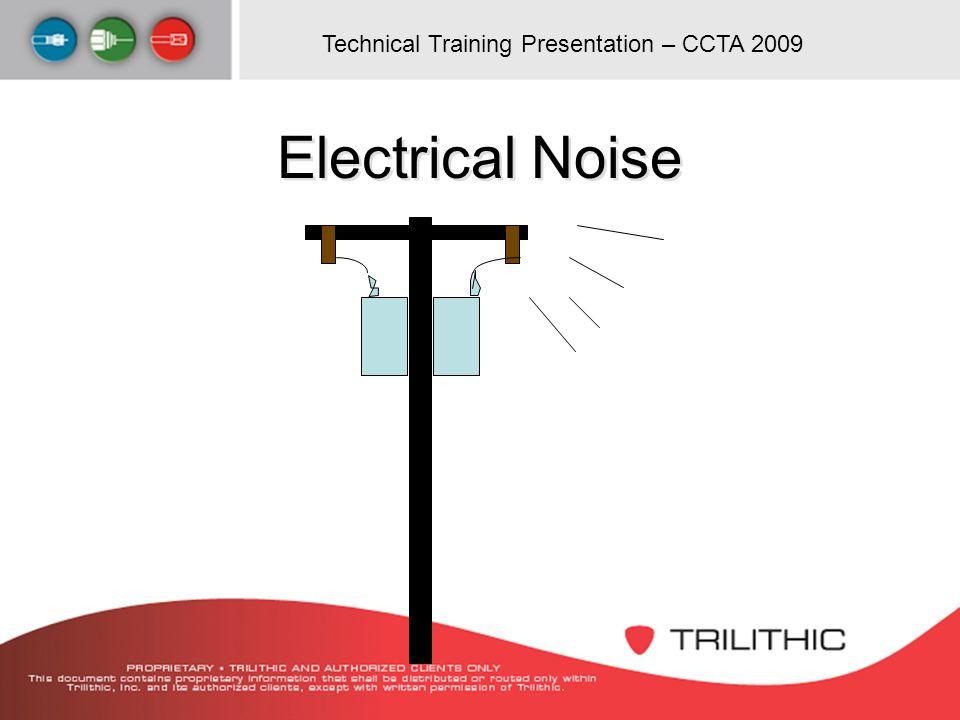 Technical Training Presentation – CCTA 2009 Electrical Noise