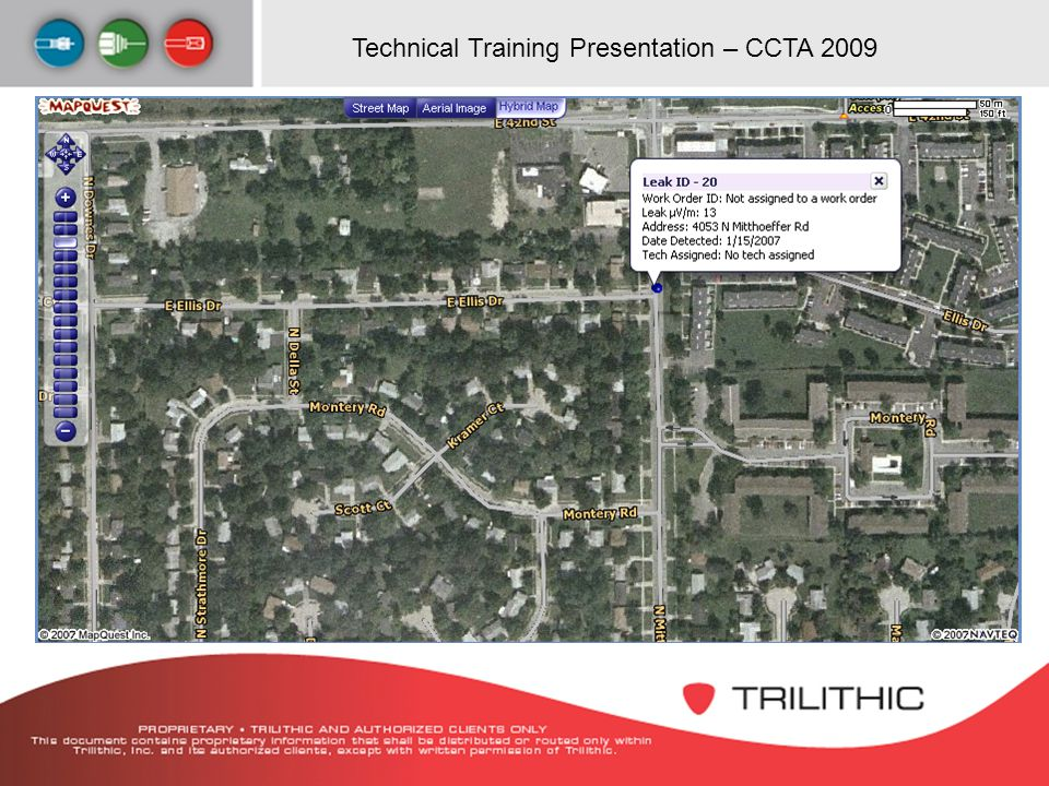 Technical Training Presentation – CCTA 2009 Aerial Image