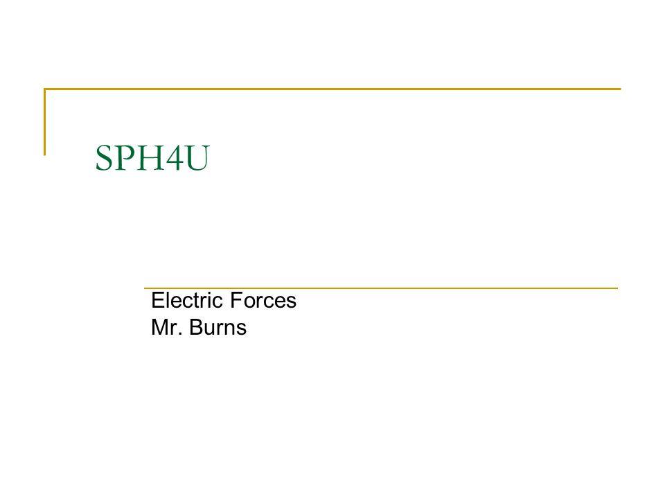 SPH4U Electric Forces Mr. Burns