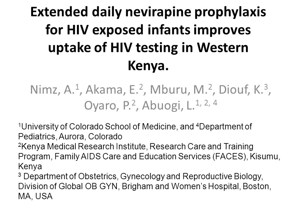 Extended daily anti-retroviral prophylaxis for infants is associated with significant increases in HIV-testing uptake.