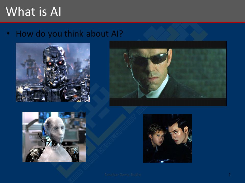 How do you think about AI What is AI 2Fanafzar Game Studio