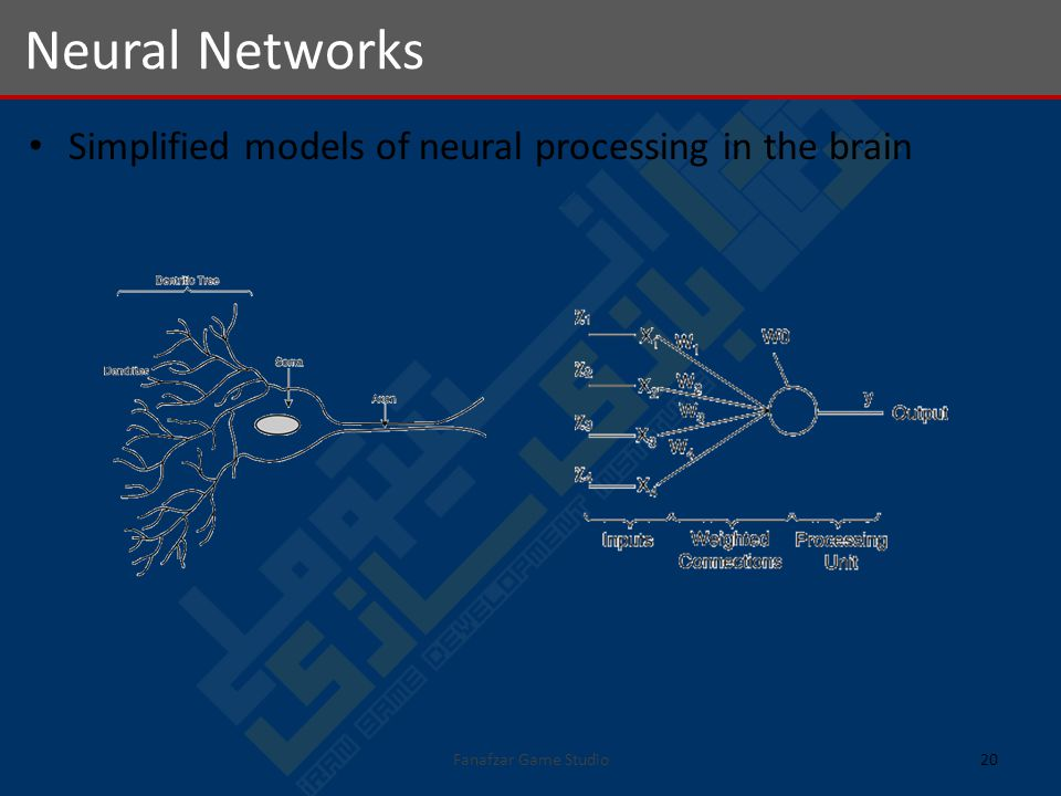 Simplified models of neural processing in the brain Neural Networks 20Fanafzar Game Studio