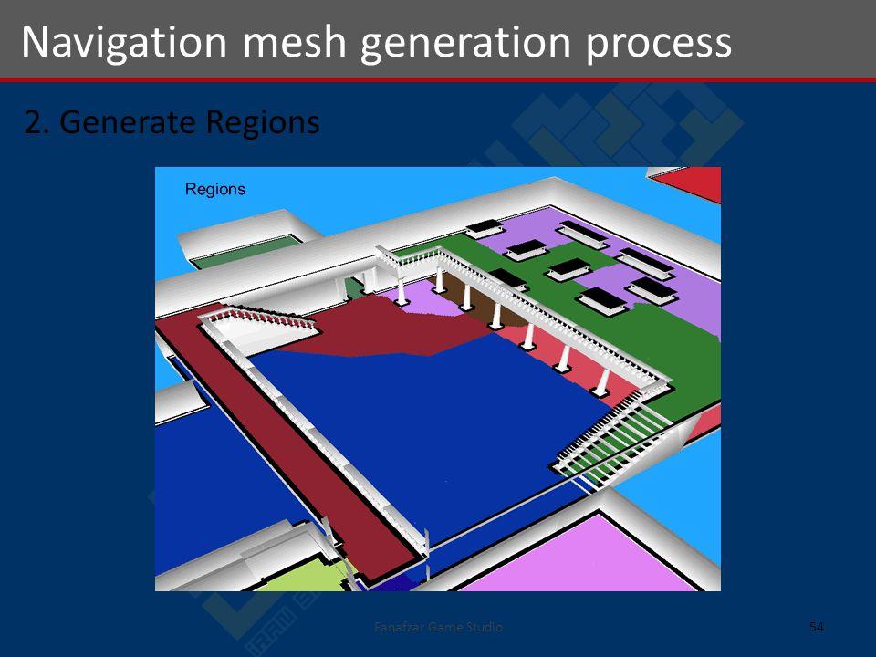 2. Generate Regions Navigation mesh generation process 54Fanafzar Game Studio