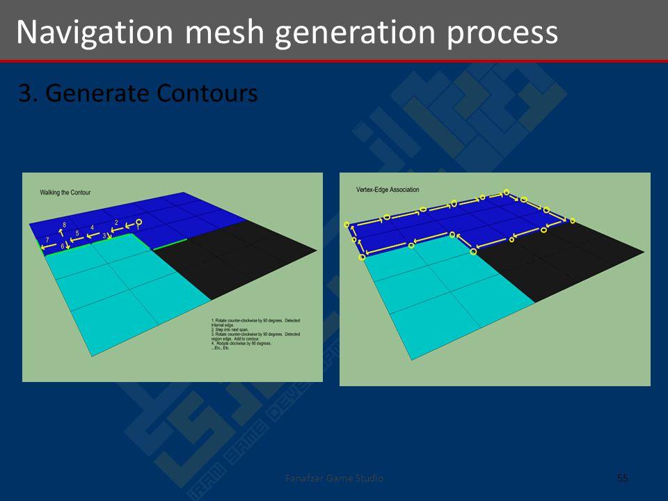 3. Generate Contours Navigation mesh generation process 55Fanafzar Game Studio