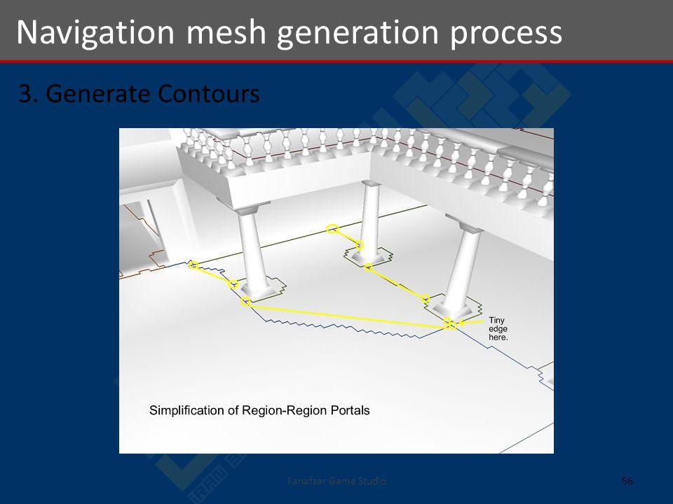 3. Generate Contours Navigation mesh generation process 56Fanafzar Game Studio
