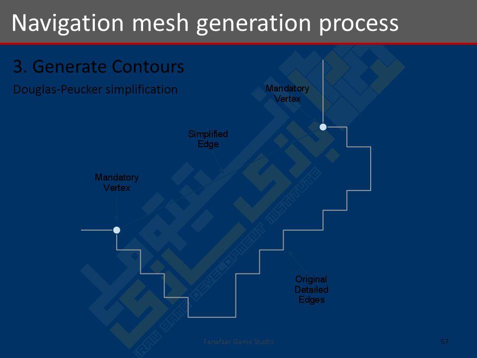 3. Generate Contours Douglas-Peucker simplification Navigation mesh generation process 57Fanafzar Game Studio