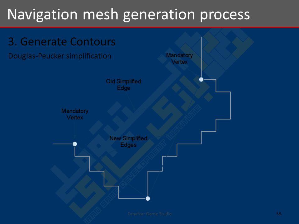 3. Generate Contours Douglas-Peucker simplification Navigation mesh generation process 58Fanafzar Game Studio
