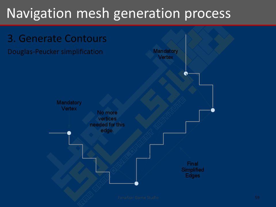 3. Generate Contours Douglas-Peucker simplification Navigation mesh generation process 59Fanafzar Game Studio