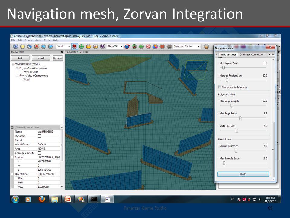 Navigation mesh, Zorvan Integration 67Fanafzar Game Studio