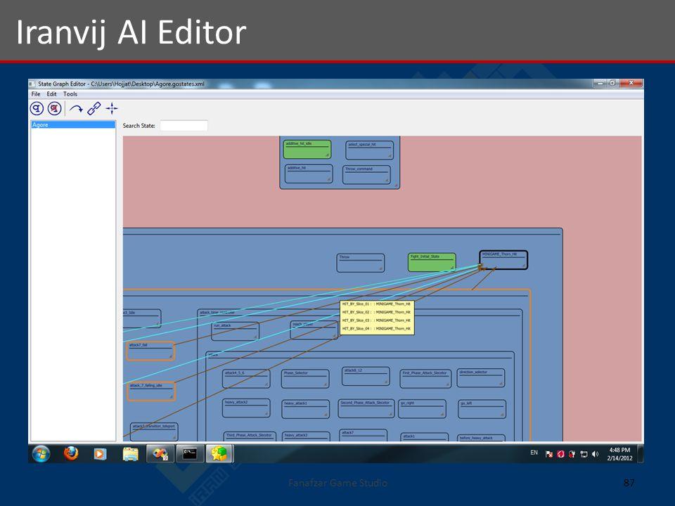 Fanafzar Game Studio87 Iranvij AI Editor