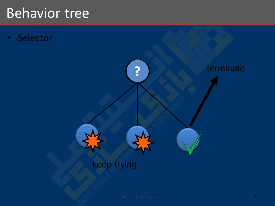 Selector Behavior tree 89Fanafzar Game Studio terminate keep trying
