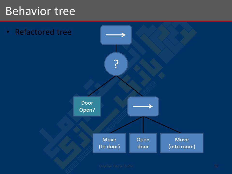 Refactored tree Behavior tree 92Fanafzar Game Studio .