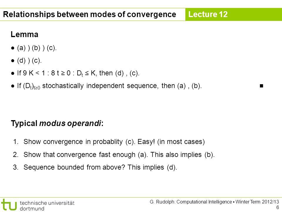 Lecture 12 Idea: Dont estimate matrix C in each iteration.