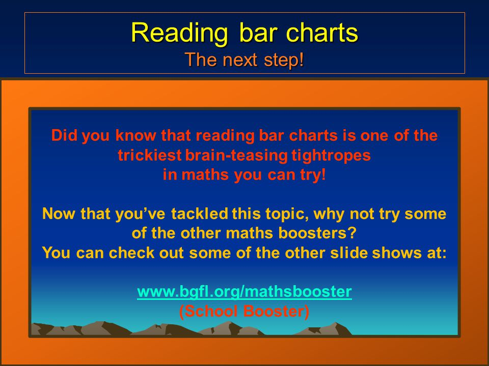 Reading bar charts The next step.
