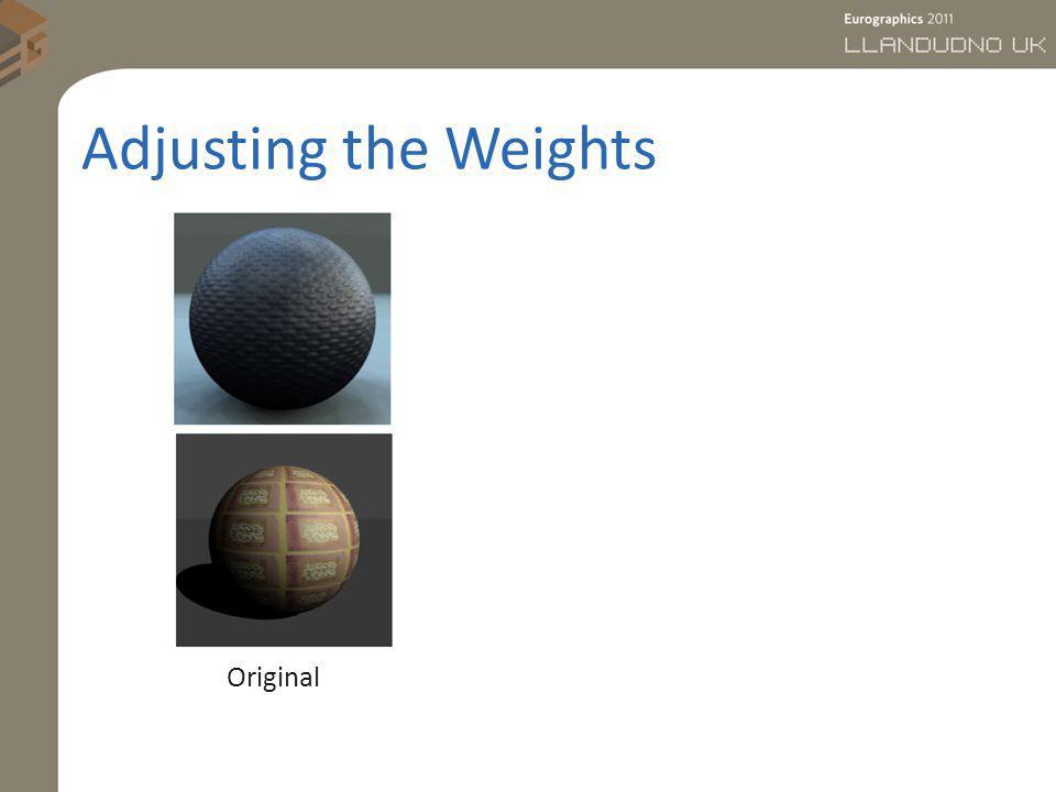 Adjusting the Weights Original
