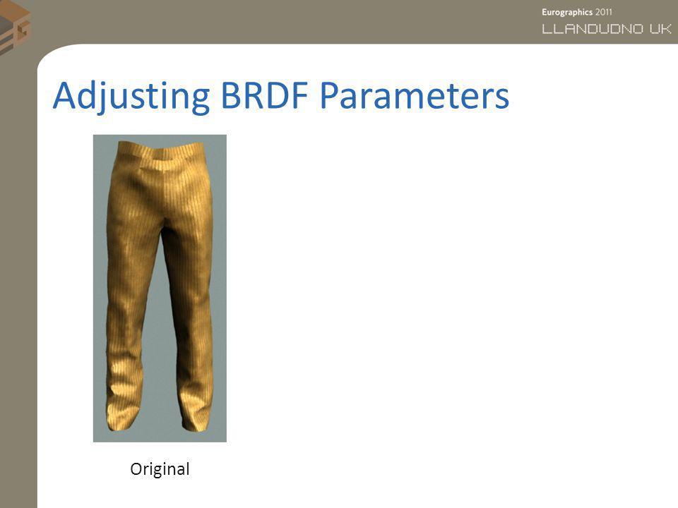 Adjusting BRDF Parameters Original