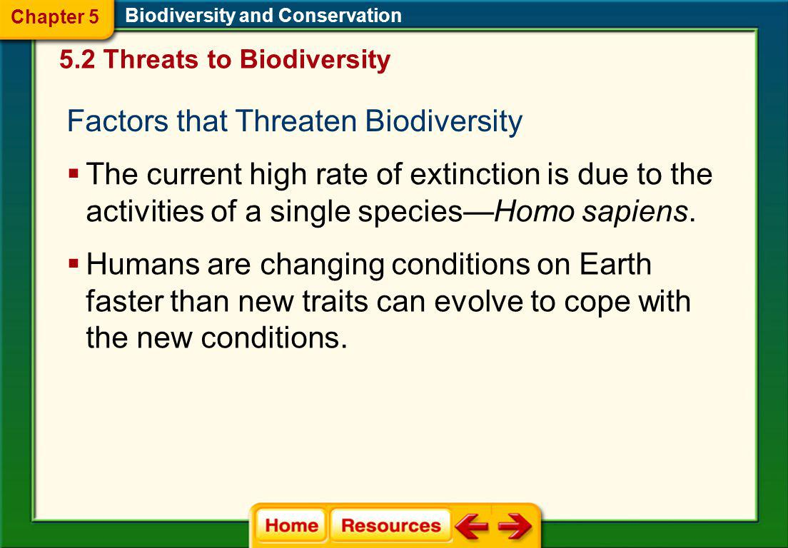 Biodiversity and Conservation Chapter 5