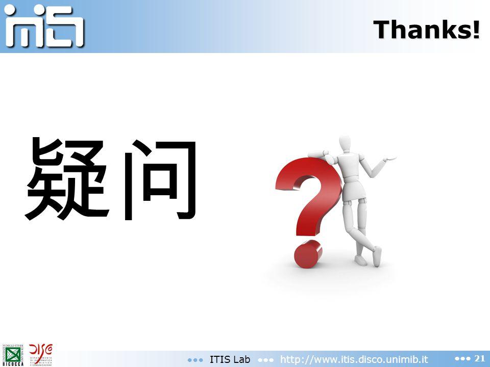 Thanks! ITIS Lab http://www.itis.disco.unimib.it 21