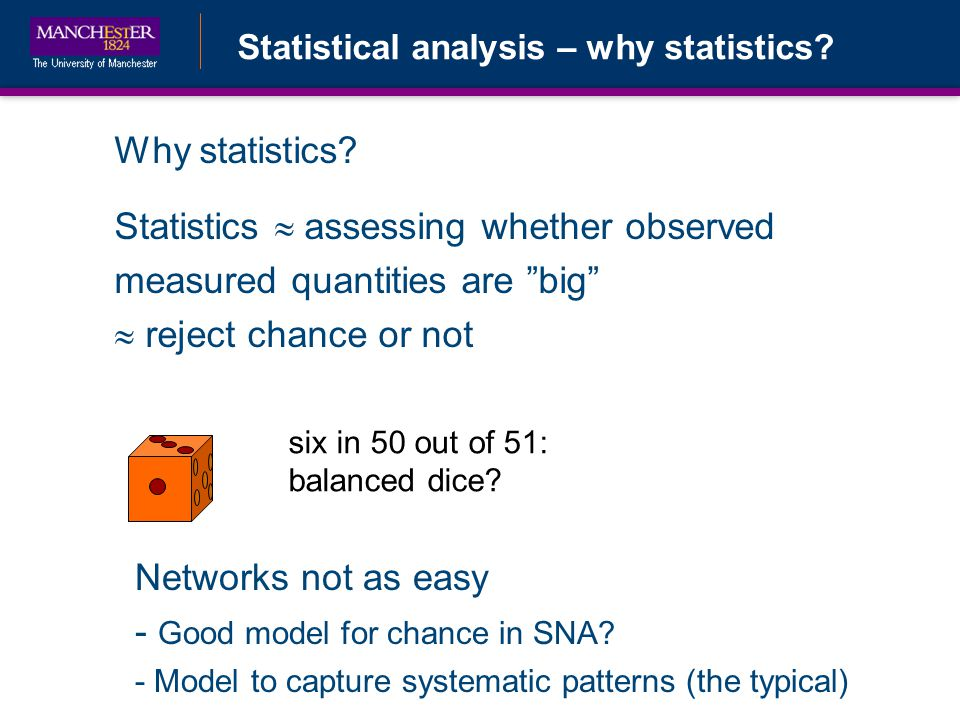 Statistical analysis – why statistics. Why statistics.