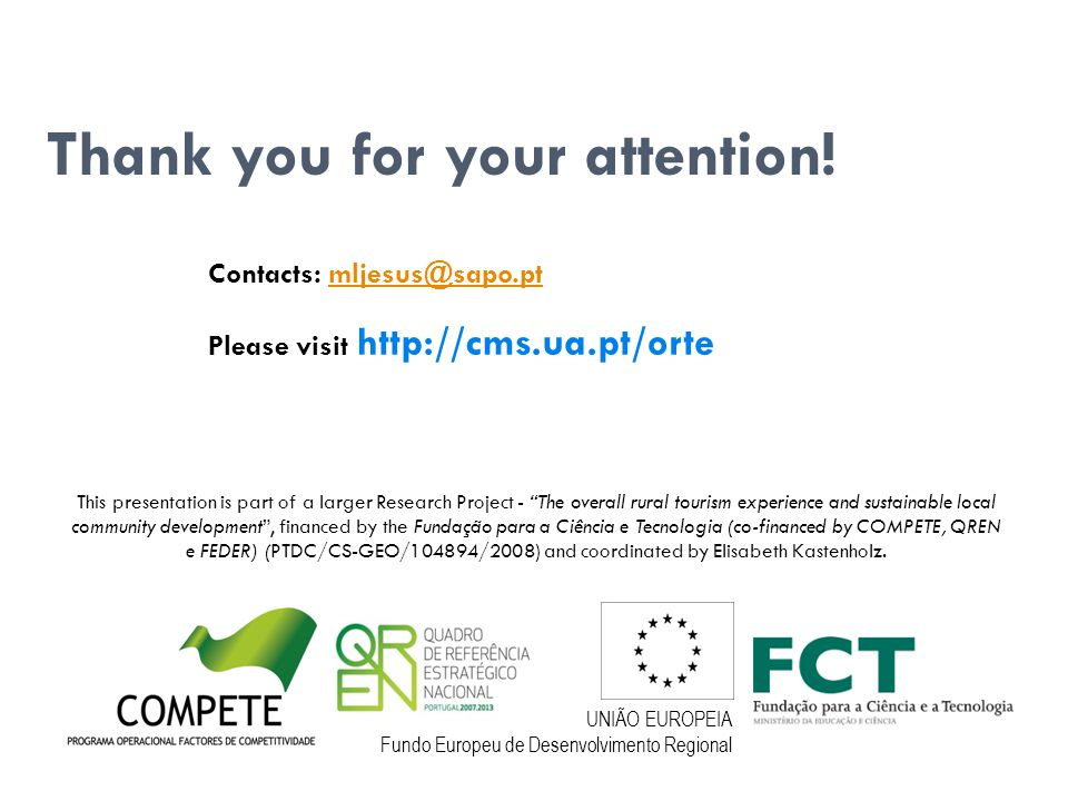 ORTE Project Thank you for your attention.