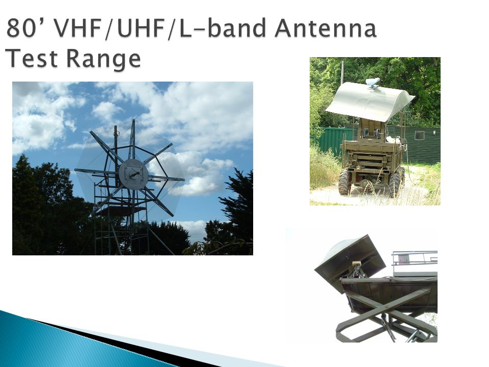 80 VHF/UHF/L-band Antenna Test Range