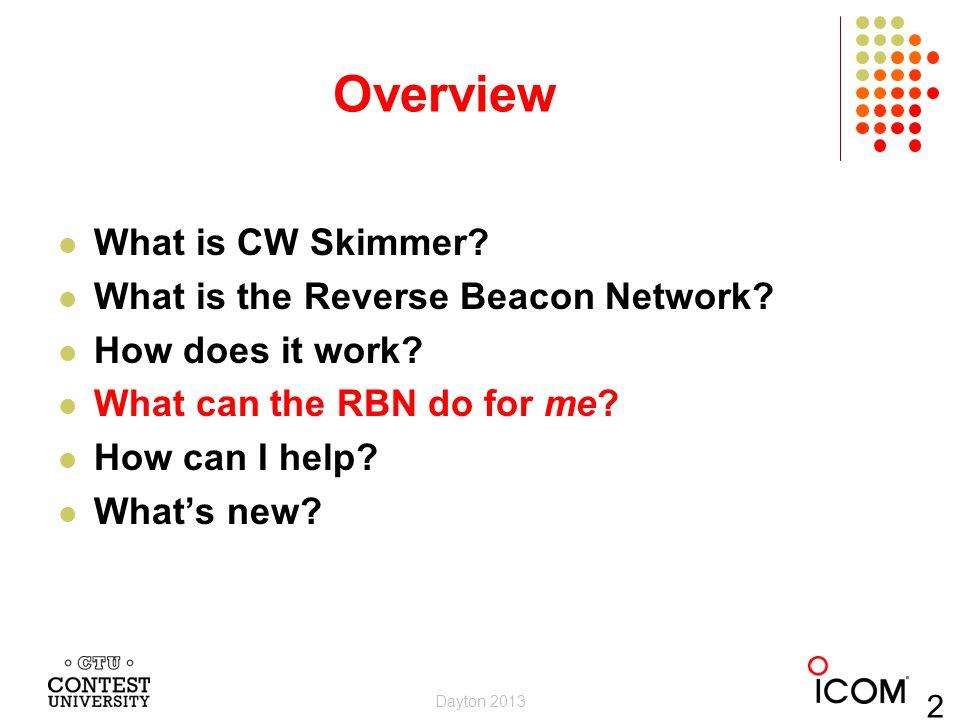 Felipe Ceglia, PY1NB Created and maintains the Reverse Beacon Network Hosts dxwatch.com and reversebeacon.net Dayton 2013 13