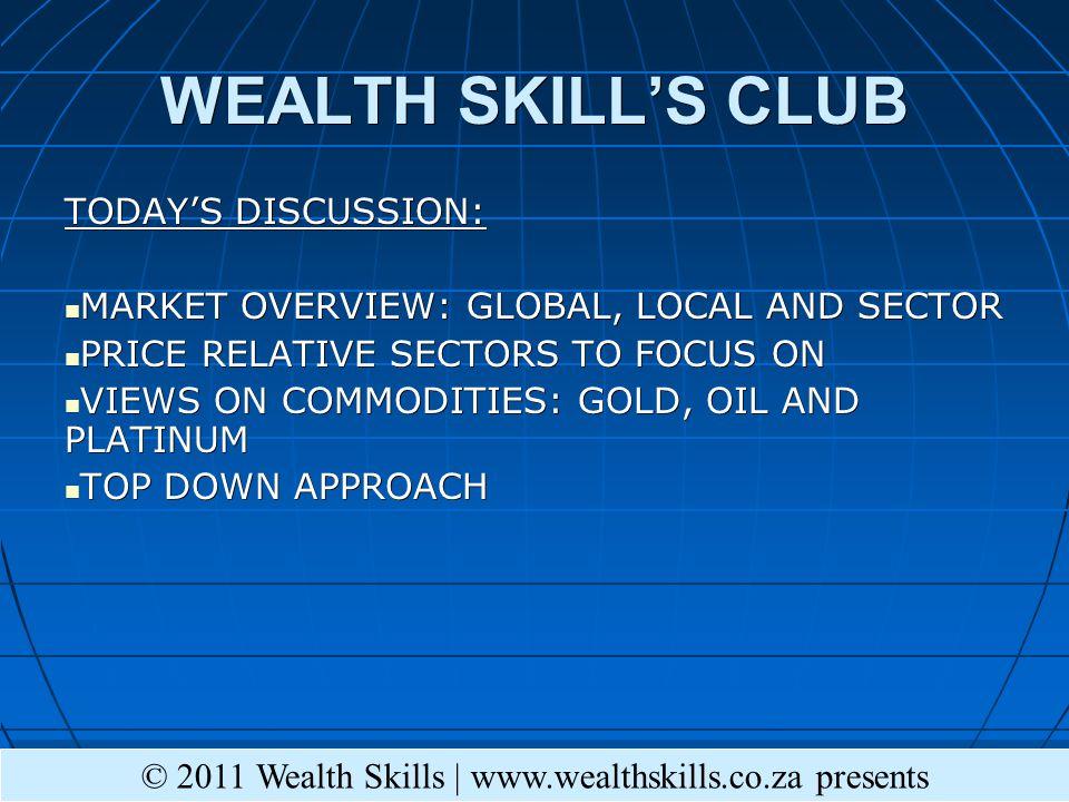 S&P 500 MT © 2011 Wealth Skills   www.wealthskills.co.za presents