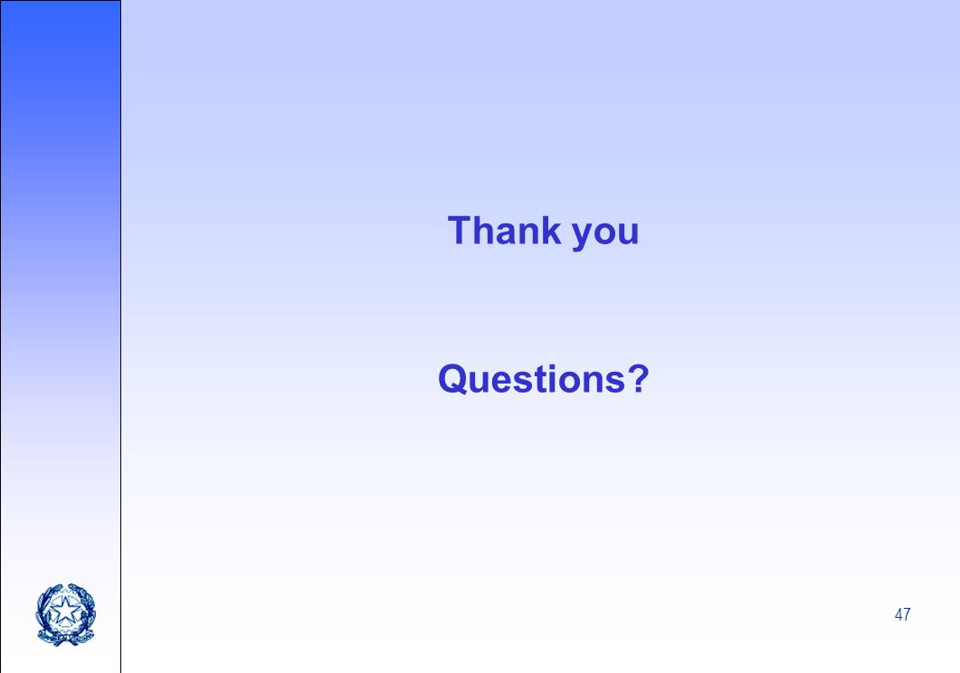 47 Thank you Questions?