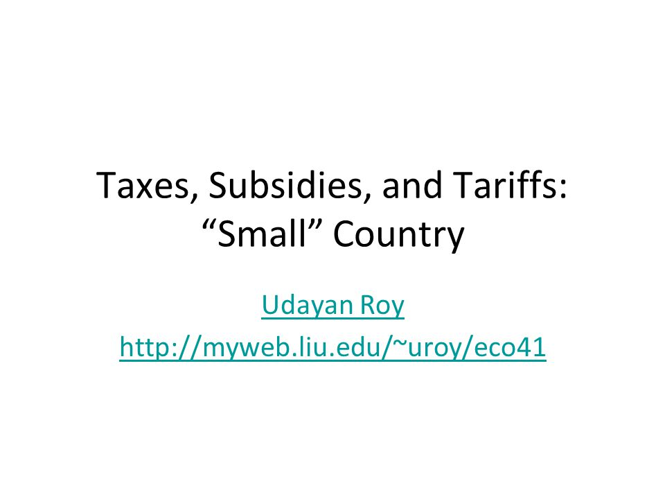 Tariffs are third best The tariff can be thought of as the combination of a production subsidy and a consumption tax The only rationale for a tariff is that it helps producers But even that goal can be better achieved by using only a production subsidy That way, the bad effects of the consumption tax can be avoided