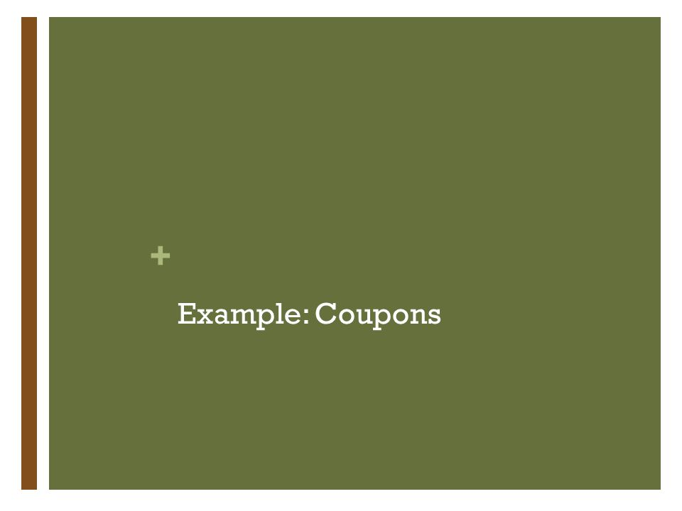 + Example: Coupons